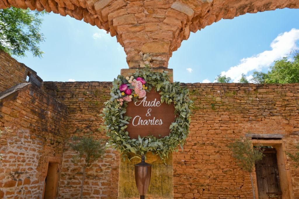 couronne fleurie cérémonie mariage