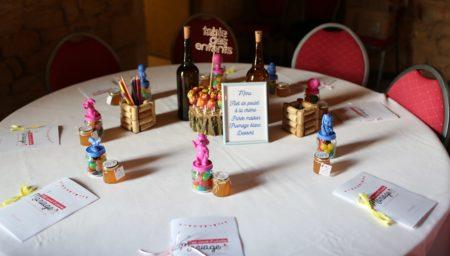 décoration de la table des enfants