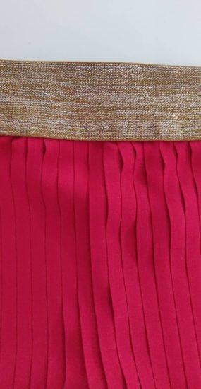 élastique jupe plissée