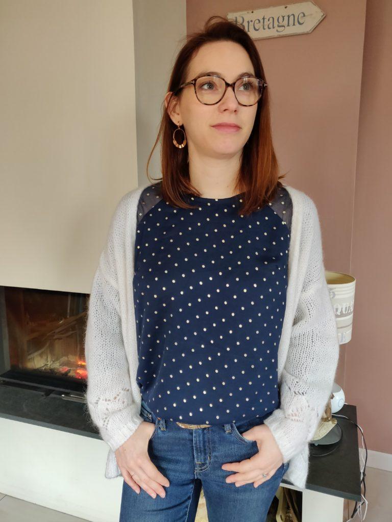 blouse stockholm face gilet bis