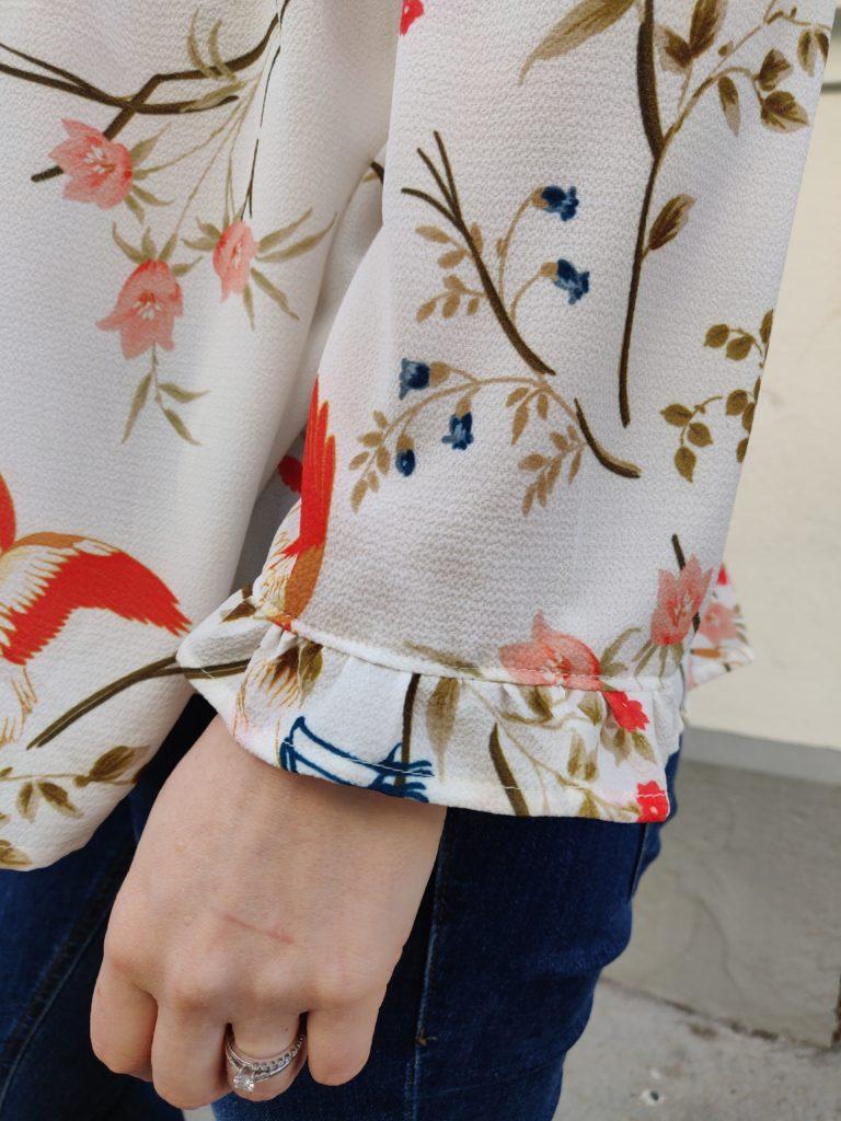 blouse Eugénie détail manche