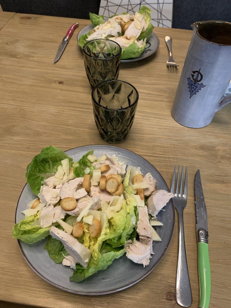 salade césar batchcooking